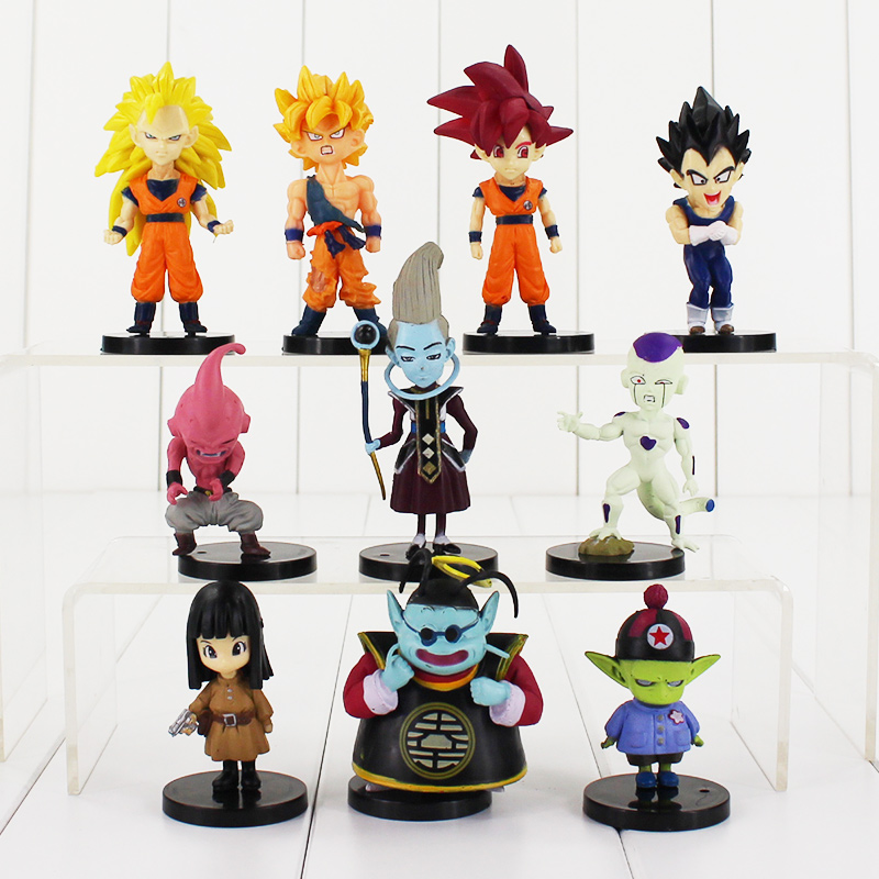 10 adet/grup Dragon Ball Z Action Figure Modeli PVC Goku Süper Saiyan Şekil Doll, Anime Brinquedos Oyuncaklar Collection